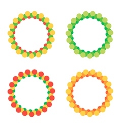 Set of colorful round circle frames vector