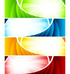 set of four colorful banners vector image vector image