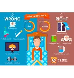 Sleep infographic vector