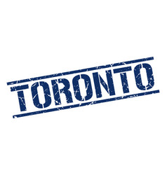 Toronto blue square stamp vector