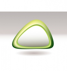 triangle pebble green vector image vector image