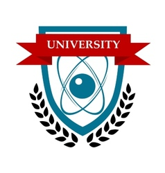 University emblem design vector image
