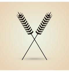 Wheat icon grain design Agriculture concept vector image vector image