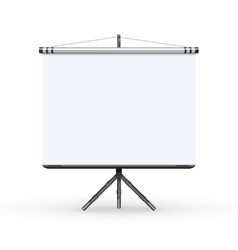 White board presentation conference meeting screen vector image