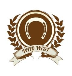 Wild west culture vector image