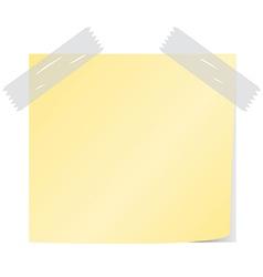Yellow post it vector