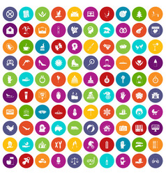 100 joy icons set color vector