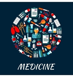 Medicine symbols background with icons vector