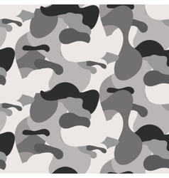 Gray camouflage seamless pattern vector