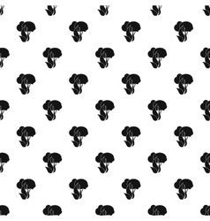 Fire in woods pattern simple style vector