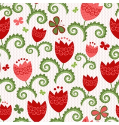Spring white seamless pattern vector image
