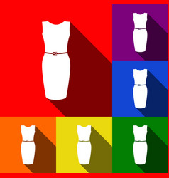dress sign   set of icons with vector image
