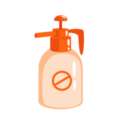 Orange sprayer bottle of insecticide colorful vector