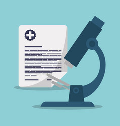 Microscope laboratory document care vector