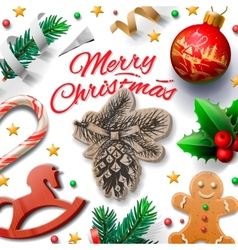 Merry christmas festive background with vector