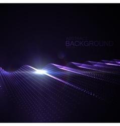 3d illuminated neon digital wave vector