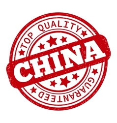 Made in china red graphic round rubber vector