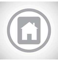 Grey house plate sign icon vector