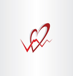 Human heart medical cardiology logo vector