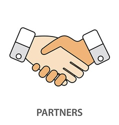 Two business partners agreed a deal and doing vector