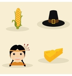 Thanksgiving objects vector