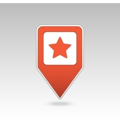Star favorite pin map icon map pointer markers vector