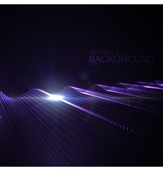 3d illuminated neon digital wave vector