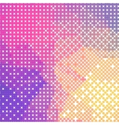 Halftone polygonal background vector
