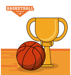 Basketball sport trophy ball design vector