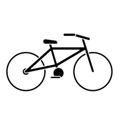 bicycle transport ecology pictogram vector image