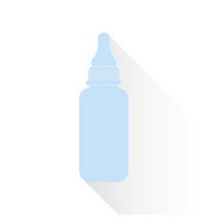 blue bottle for a newborn in a flat style vector image vector image