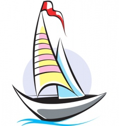 boat vector image vector image