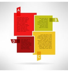 Bright infographic boards and elements in modern vector image vector image