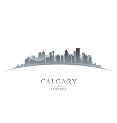 Calgary Alberta Canada city skyline silhouette vector image