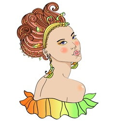 carnaval girl vector image vector image