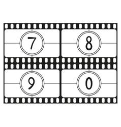Film countdown numbers part 3 vector