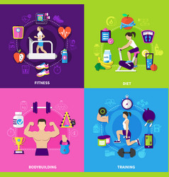 fitness design concept vector image vector image