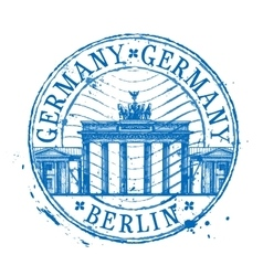 Germany logo design template Shabby stamp vector image