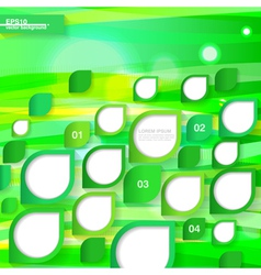 Green bright infographic template vector