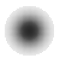 halftone round dots stamp vector image vector image