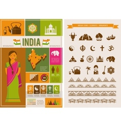 India infographics and elements vector image vector image