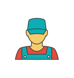 Mechanic avatar icon vector