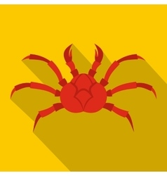 Red king crab icon flat style vector