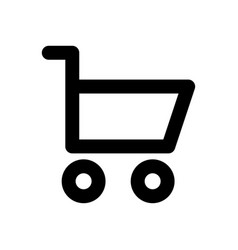 shopping cart linear icon linear web icon vector image