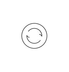 sync line icon vector image vector image