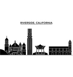 Usa california riverside architecture vector