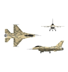 War plane in flat style Military aircraft vector image vector image