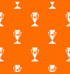 winning cup pattern seamless vector image vector image