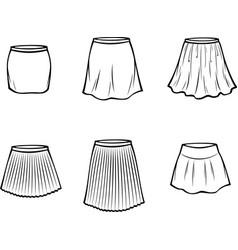 Womens skirt vector