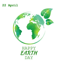 world earth day grunge style vector image vector image